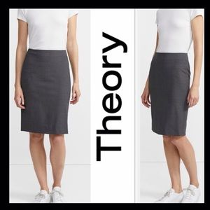 THEORY Charcoal Pencil Skirt